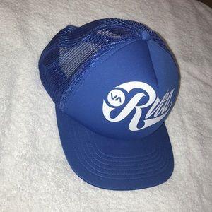 RVCA Trucker Blue Hat